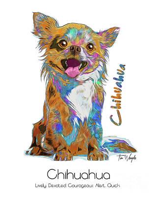 Digital Art - Chihuahua Pop Art by Tim Wemple