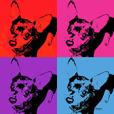 Chihuahua Pop Art Art Print by Rebecca Korpita