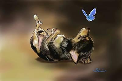 Chihuahua Digital Art - Chihuahua Reposing by Sherri Godsey
