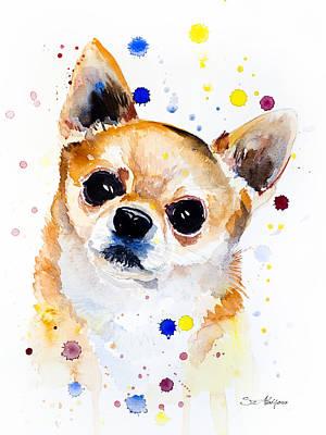 Chihuahua Art Painting - Chihuahua by Slavi Aladjova