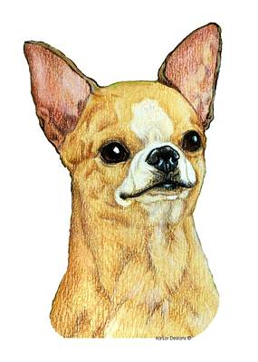 Pop Art Drawing - Chihuahua, Smooth Coat by Kathleen Sepulveda