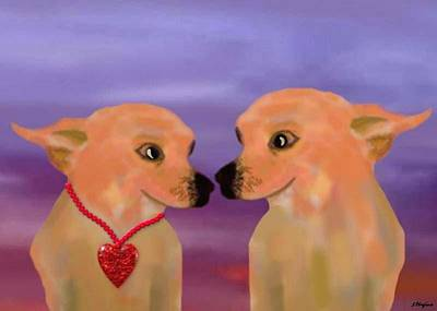Chihuahua Sunset Art Print by Sher Magins
