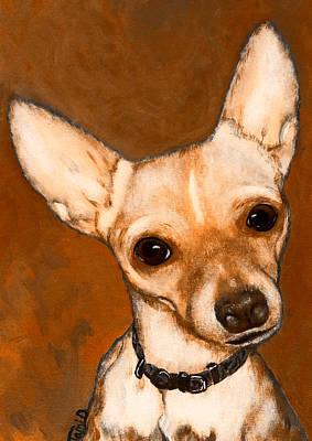 Short Hair Chihuahua Painting - Chihuahua Dog Potrait by Tami Dalton