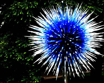 Photograph - Chihuly Blue by Jacqueline M Lewis
