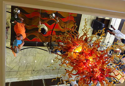 Photograph - Chihuly Chandelier by Donna Spadola