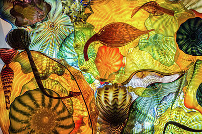 Photograph - Chihuly Collage by Stewart Helberg
