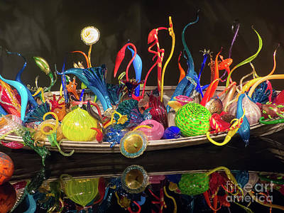Photograph - Chihuly Glass Display by Rod Jones