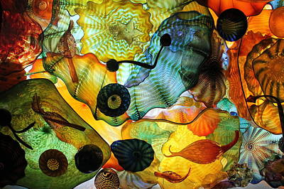 Photograph - Chihuly's Ceiling by Laurel Talabere