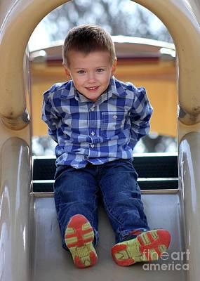 Photograph - Child 01 Playground by E B Schmidt