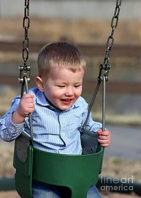 Photograph - Child 04 Playground by E B Schmidt