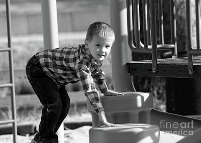 Photograph - Child 05 Playground by E B Schmidt