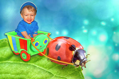 Digital Art - Child And Ladybug by Tatiana Tyumeneva