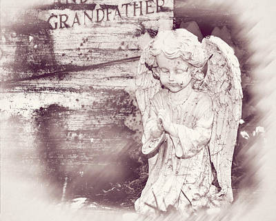 Photograph - Child Angel Statue Fine Art by Jacek Wojnarowski