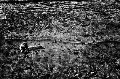 Photograph - Child Claming At Waning Tide by Roger Passman