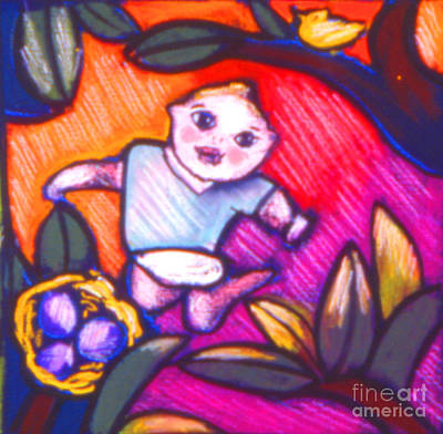 Child Gazing Art Print by Angelina Marino