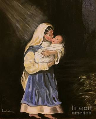 Painting - Child In Manger by Brindha Naveen