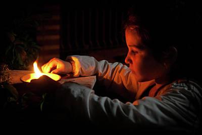 Child In The Night Art Print