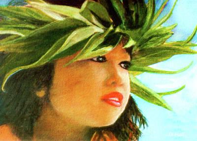 Child Keiki In Hawaiian No# 84 Art Print by Donald k Hall