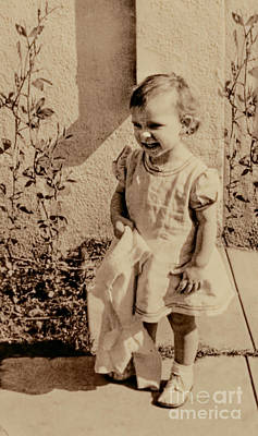 Art Print featuring the photograph Child Of 1940s by Linda Phelps