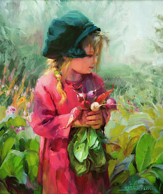 Nostalgia Painting - Child Of Eden by Steve Henderson
