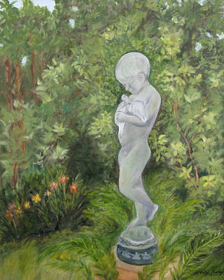 Child Of Peace As In Brookgreen Gardens Art Print by Shirley Lawing