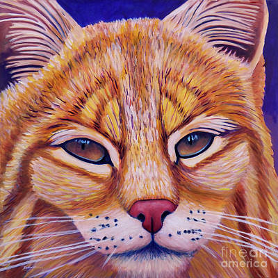 Bobcat Painting - Child Of The Day by Brian Commerford