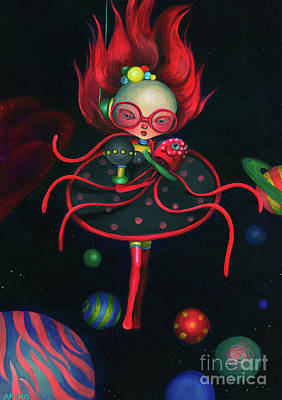 Painting - Child Of The Universe  by Akiko Okabe