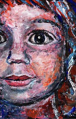 Eyes Of A Child Painting - Child by Oksana Kravchenko