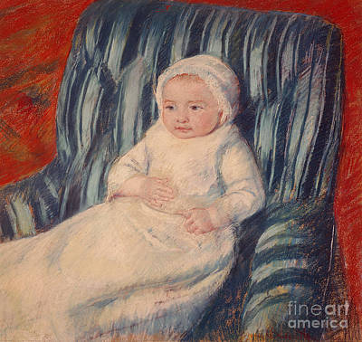 Child Portrait Painting - Child On A Sofa by Mary Cassatt