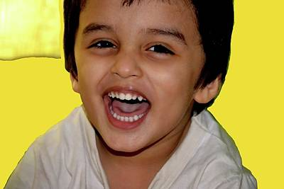 Photograph - Child Portrait-3 by Anand Swaroop Manchiraju