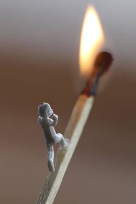Child Running On A Match Towards The Flame Print by Ulrich Kunst And Bettina Scheidulin