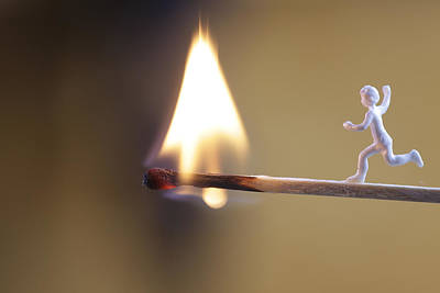 Impersonal Photograph - Child Running Towards A Burning Flame by Ulrich Kunst And Bettina Scheidulin