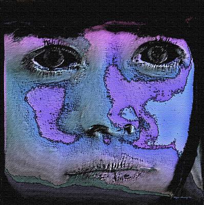 Child Torn By War Art Print by Wayne Bonney