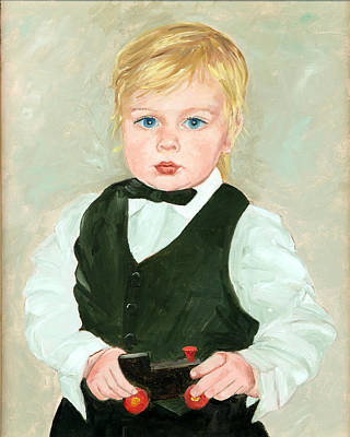 Child With A Toy Print by Ethel Vrana