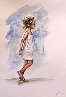 Painting - Childhood 1 by Katerina Kovatcheva