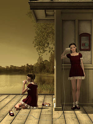 Girls Mixed Media - Childhood Call by Britta Glodde