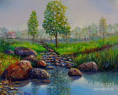 Painting - Childhood Creek by Lou Ann Bagnall