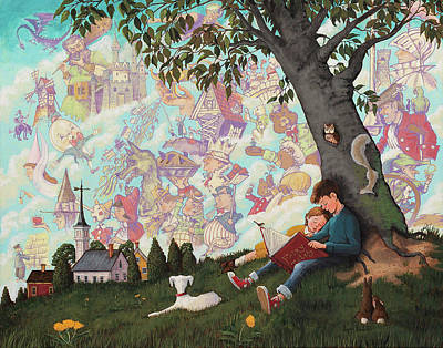 Painting - Childhood Dreams by Joseph Holodook