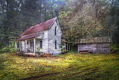 Antique Outhouse Photograph - Childhood Home by Debra and Dave Vanderlaan
