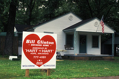 Childhood Home Of Bill Clinton Art Print by Carl Purcell