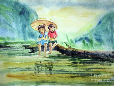 Painting - Childhood Joys by Asha Sudhaker Shenoy