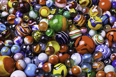 Abundance Photograph - Childhood Marbles by Garry Gay
