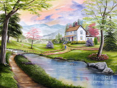 Painting - Childhood Memories by RJ McNall