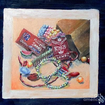 Art Print featuring the painting Childhood Treasure by Saundra Johnson