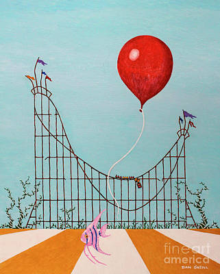 Rollercoaster Painting - Childhood's End by Dan O'Neill