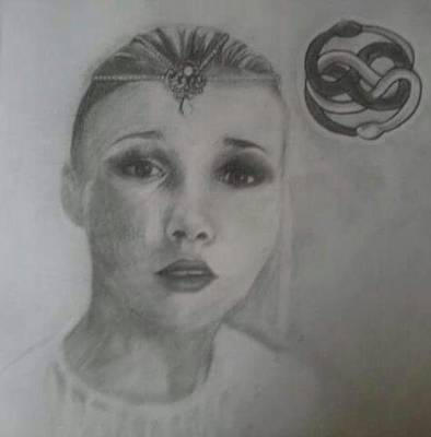 Neverending Story Drawing - Childlike Empress by Heather Blickley