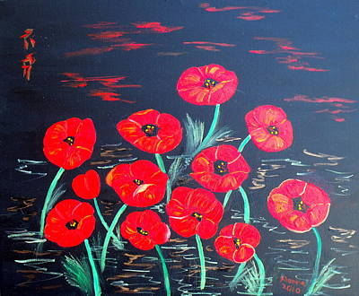 Painting - Childlike Poppies by Alanna Hug-McAnnally