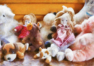 Children - Toys - Childhood Toys  Art Print by Mike Savad