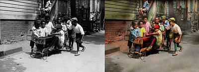 Photograph - Children - 5th Times A Charm 1915 - Side By Side by Mike Savad