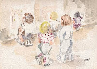 Vintage Pharmacy Royalty Free Images - Children at Play Royalty-Free Image by Masako Johnson